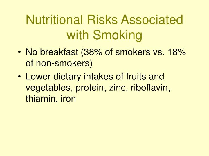 Nutritional Risks Associated with Smoking