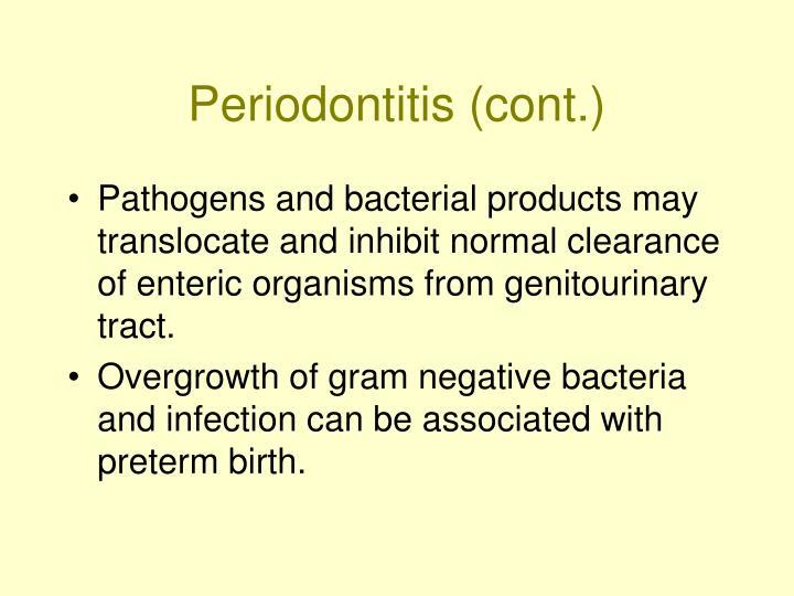 Periodontitis (cont.)
