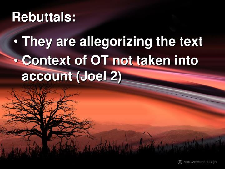 Rebuttals: