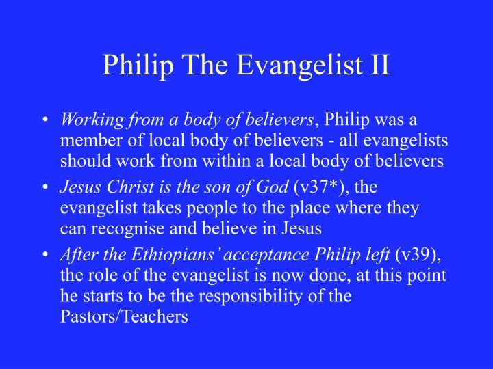 Philip The Evangelist II