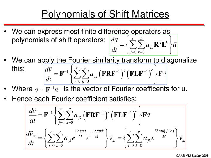 Polynomials of Shift Matrices