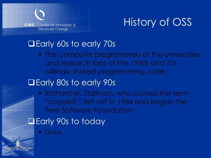 History of OSS