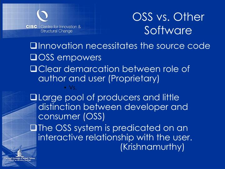 OSS vs. Other Software