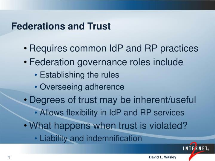 Federations and Trust