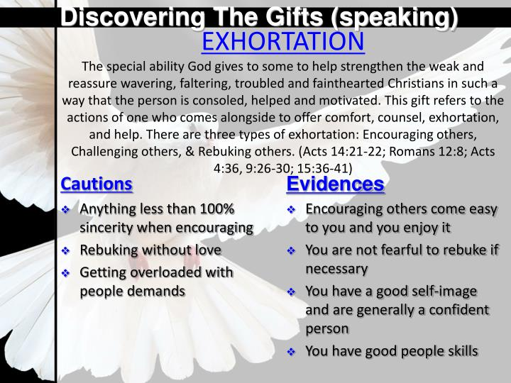 Discovering The Gifts (speaking)