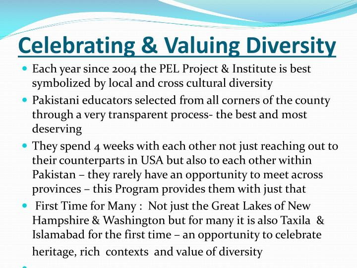 Celebrating & Valuing Diversity