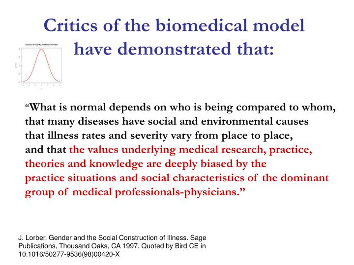 Critics of the biomedical model
