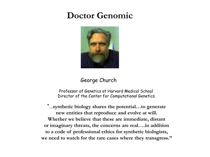 Doctor Genomic