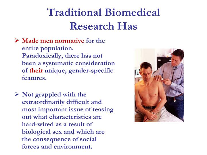 Traditional biomedical research has
