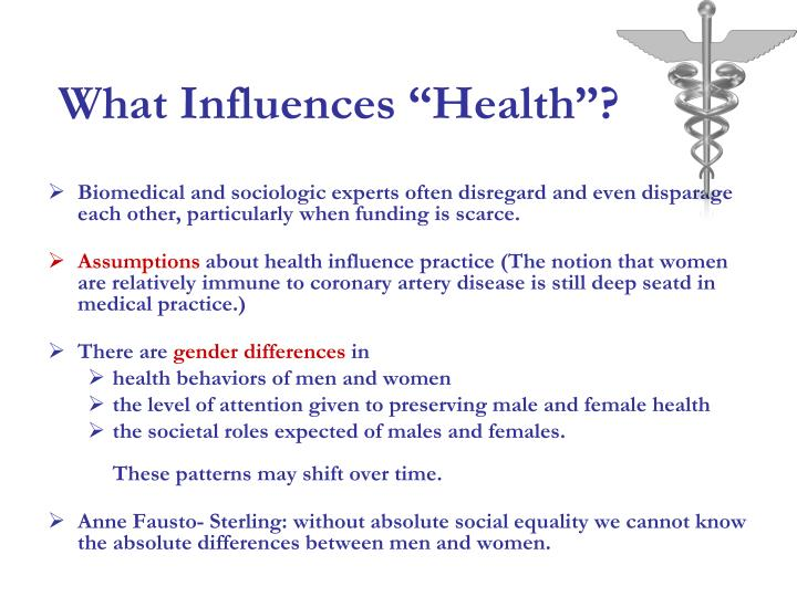 "What Influences ""Health""?"