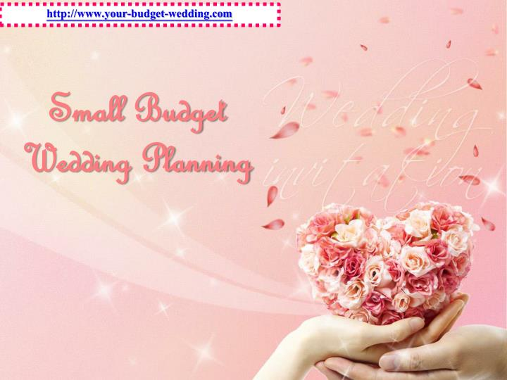 Small budget wedding planning