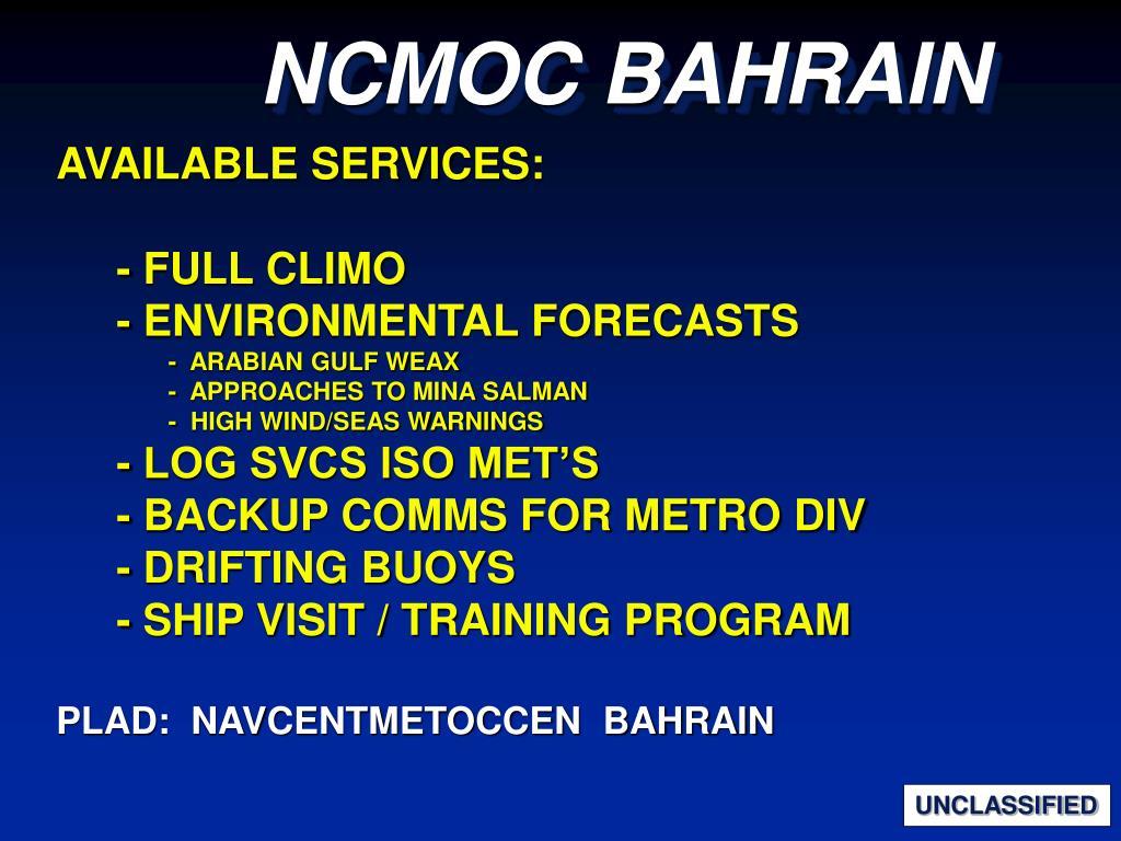 NCMOC BAHRAIN