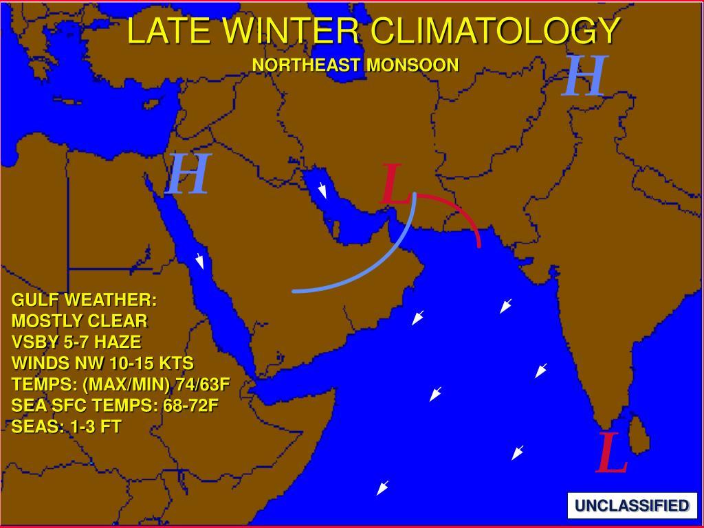LATE WINTER CLIMATOLOGY