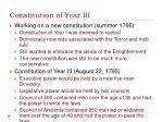 constitution of year iii