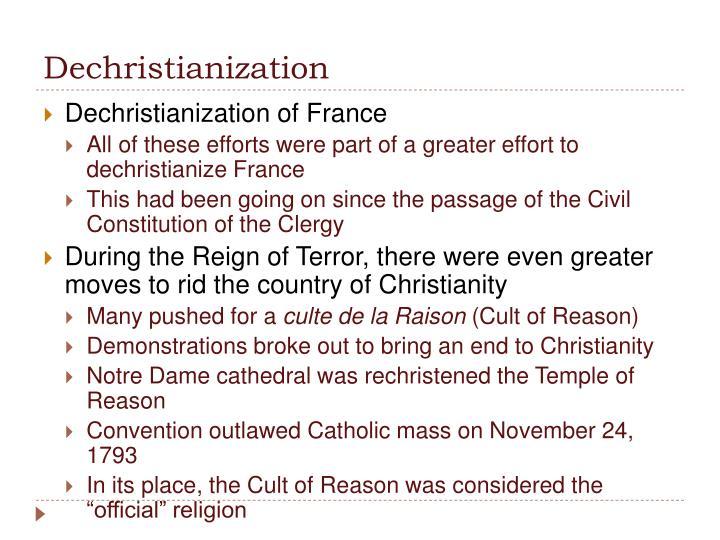 Dechristianization