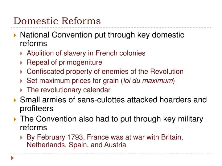 Domestic Reforms