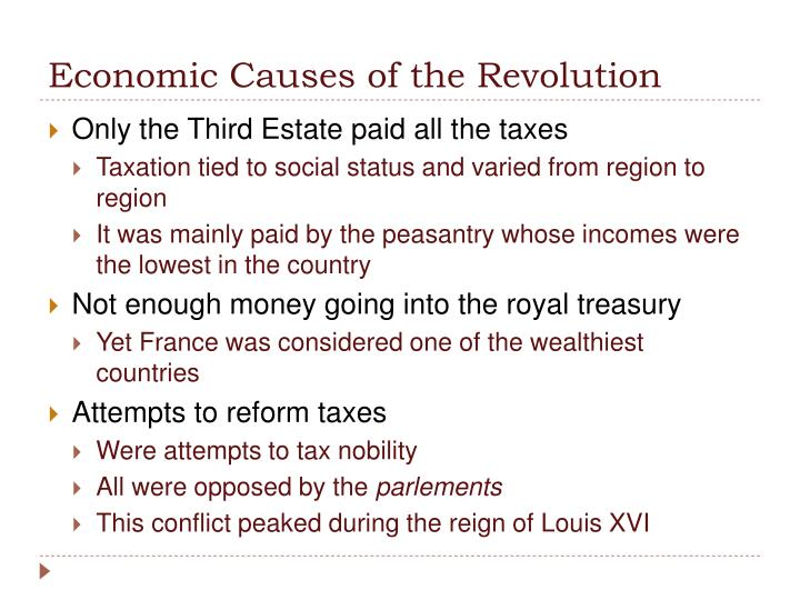 Economic Causes of the Revolution