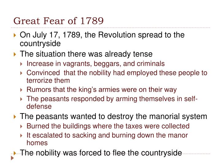 Great Fear of 1789