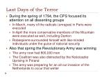 last days of the terror