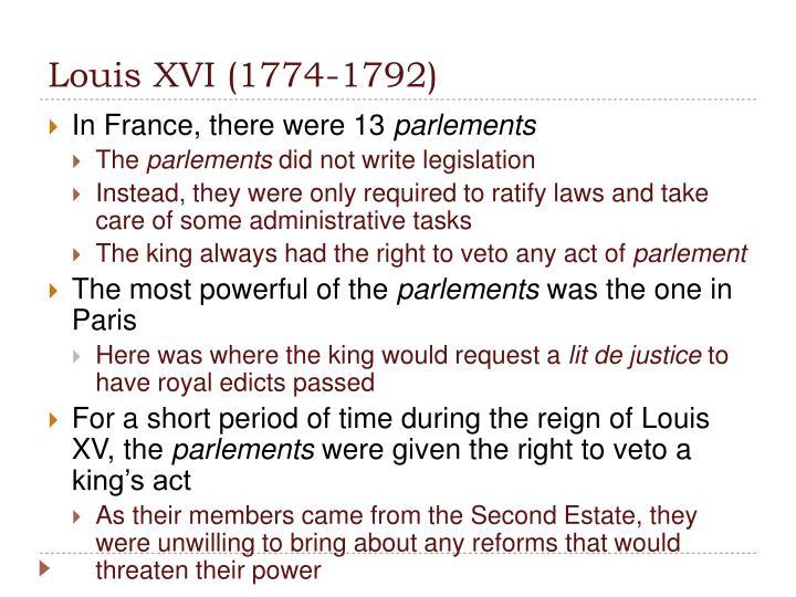 Louis XVI (1774-1792)