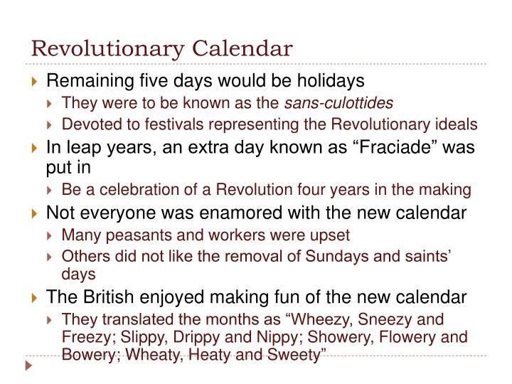 Revolutionary Calendar