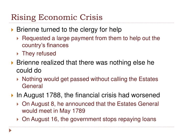 Rising Economic Crisis