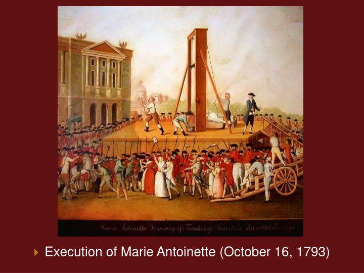 Execution of Marie Antoinette (October 16, 1793)
