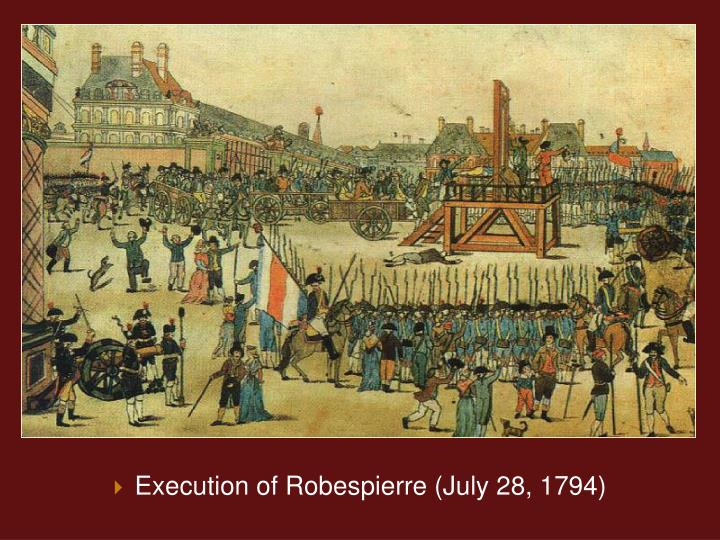 Execution of Robespierre (July 28, 1794)