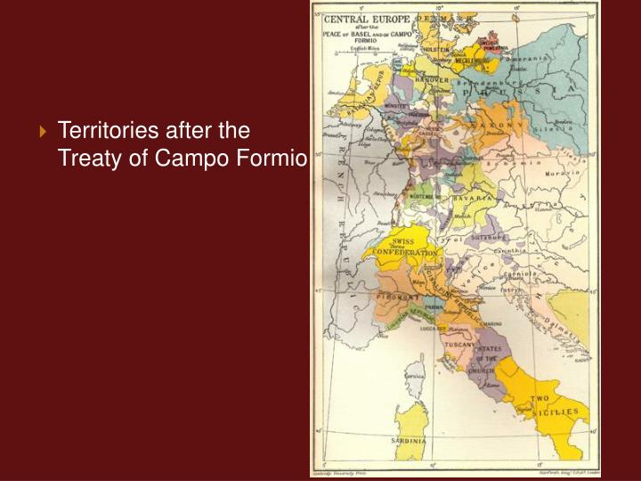 Territories after the Treaty of Campo Formio