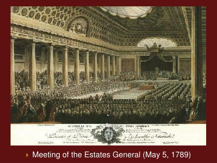 Meeting of the Estates General (May 5, 1789)