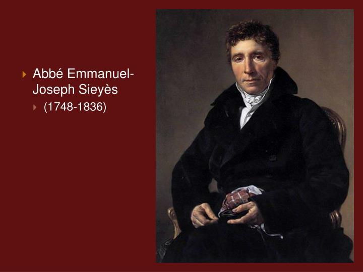 Abb Emmanuel-Joseph Sieys