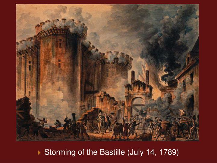 Storming of the Bastille (July 14, 1789)
