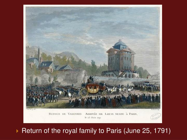 Return of the royal family to Paris (June 25, 1791)