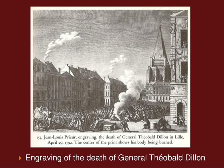 Engraving of the death of General