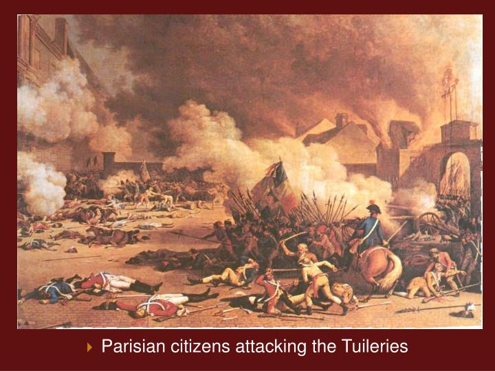 Parisian citizens attacking the Tuileries