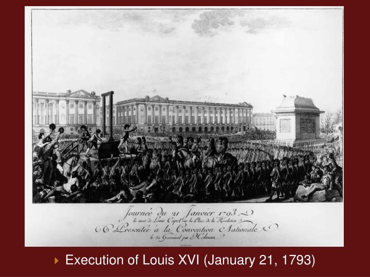 Execution of Louis XVI (January 21, 1793)