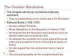 the counter revolution
