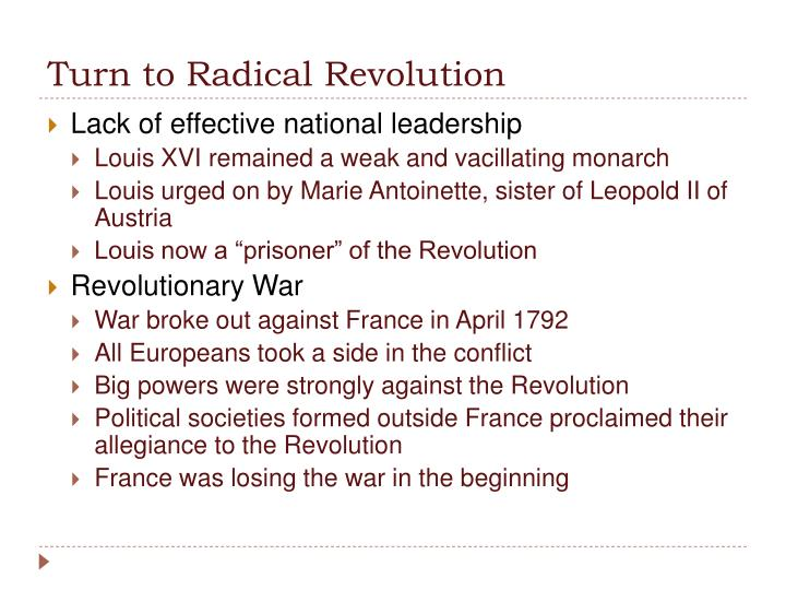 Turn to Radical Revolution