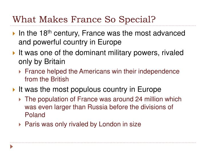 What Makes France So Special?