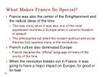 what makes france so special1