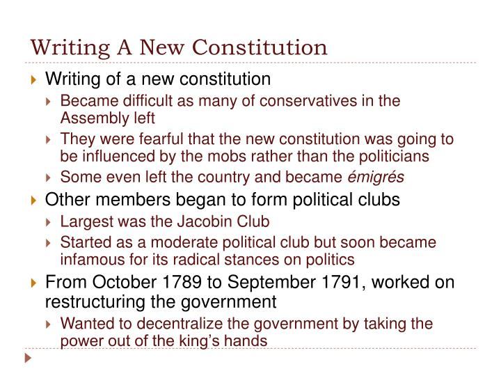 Writing A New Constitution