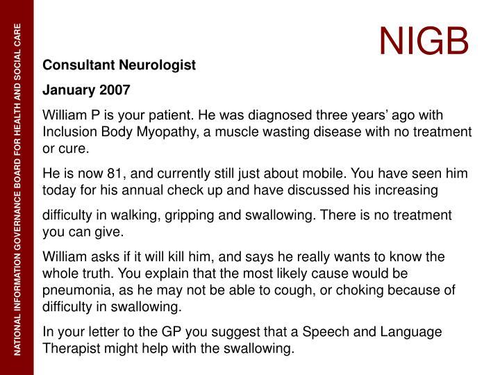 Consultant Neurologist