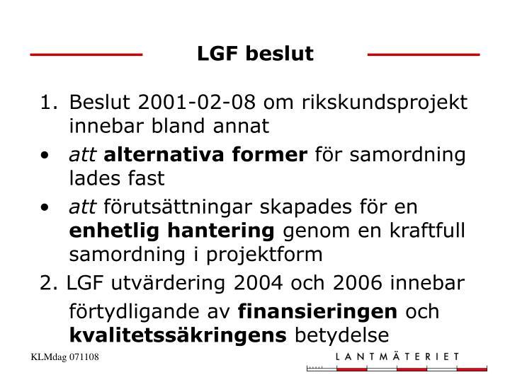 LGF beslut
