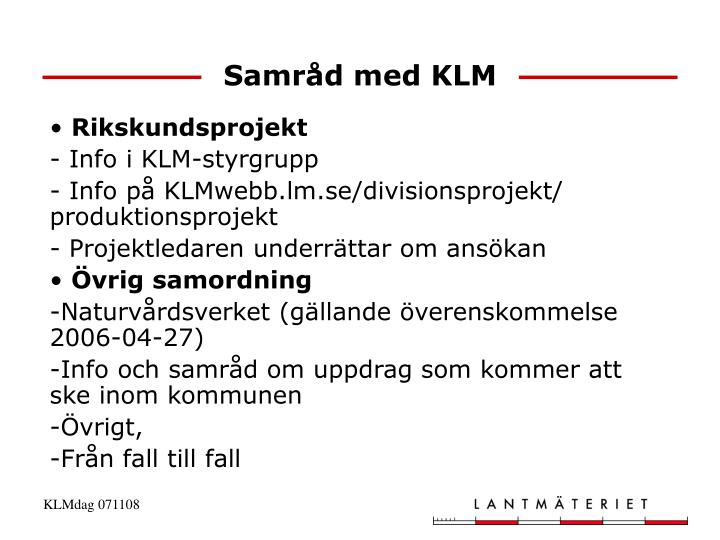 Samråd med KLM