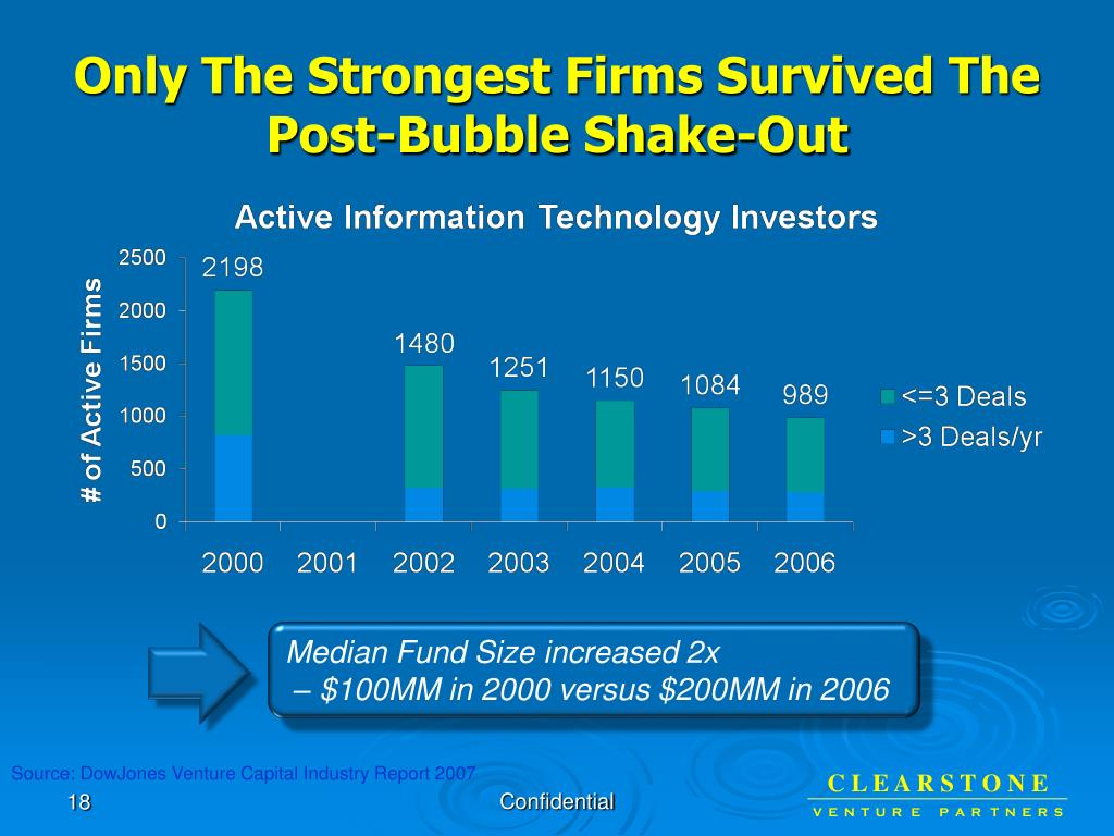 Only The Strongest Firms Survived The Post-Bubble Shake-Out