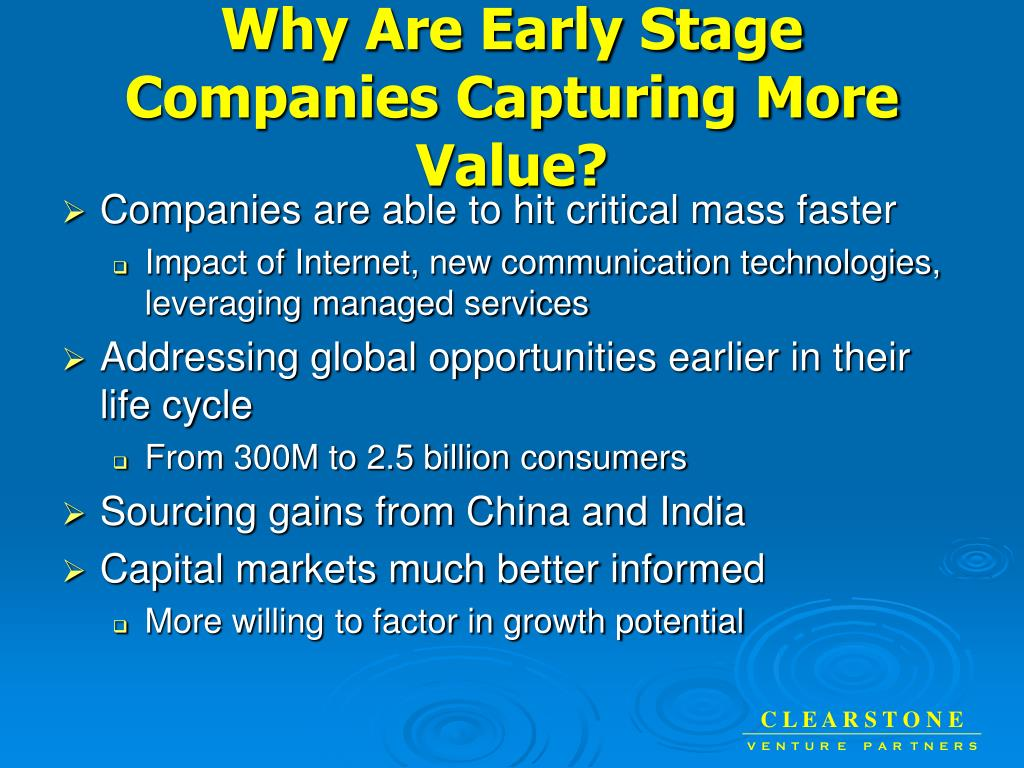 Why Are Early Stage Companies Capturing More Value?