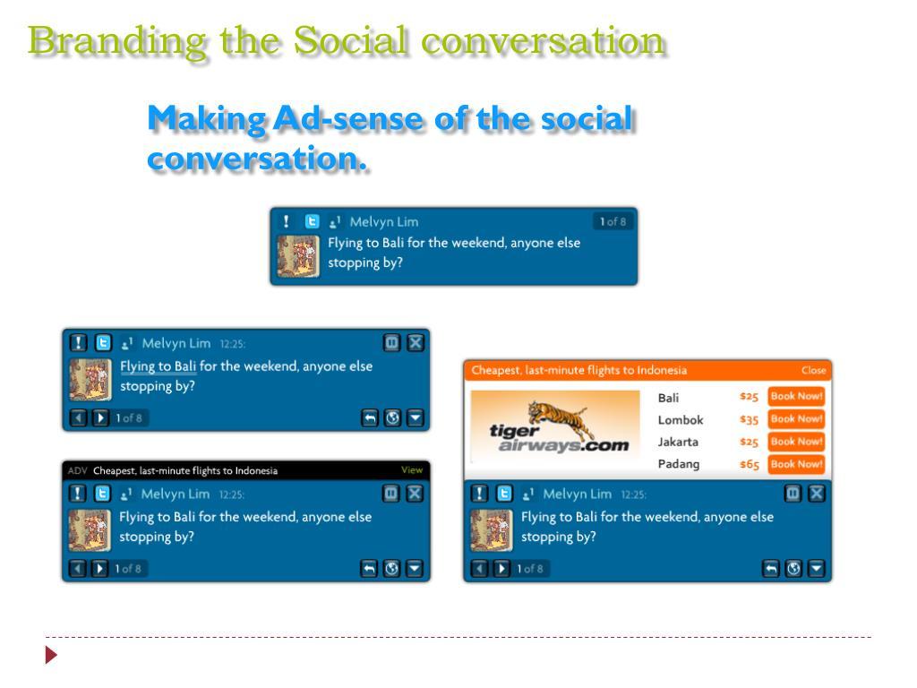 Branding the Social conversation