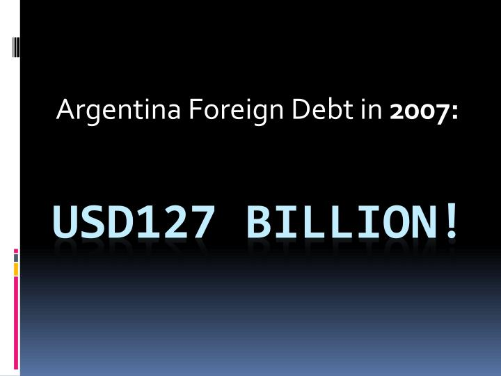 Argentina Foreign Debt in