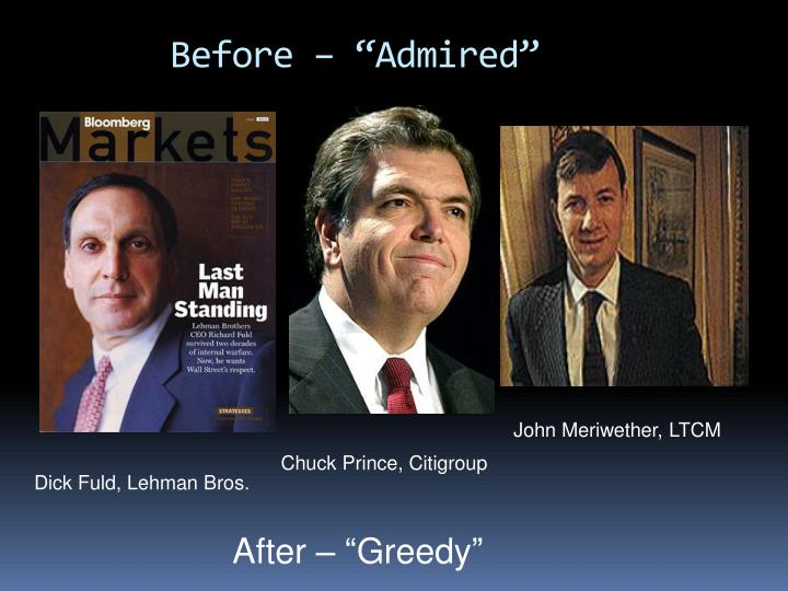 "Before – ""Admired"""