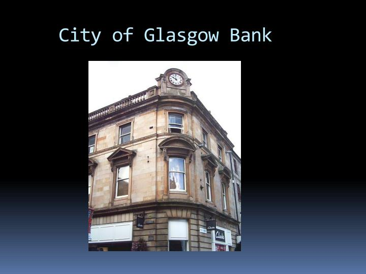 City of Glasgow Bank